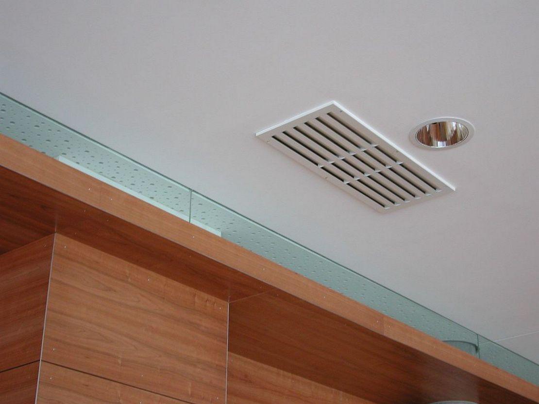 монтаж диффузора в натяжной потолок