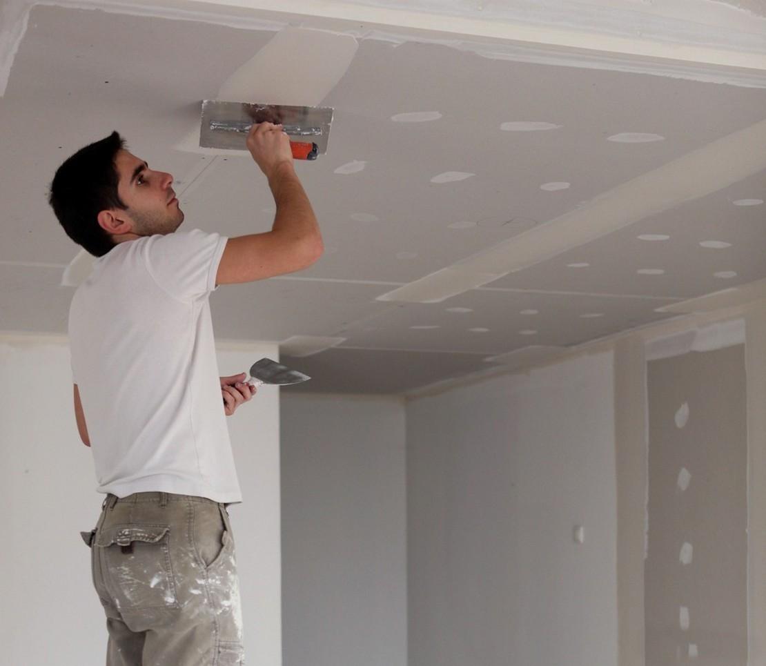 шпаклевание гипсокартонного потолка