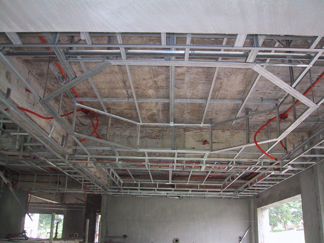 схема 2-х уровневого потолка