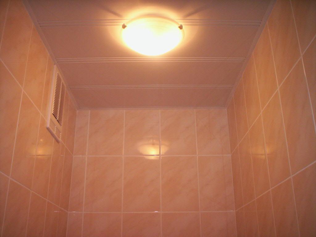 пластиковая плитка для отделки потолка ванной