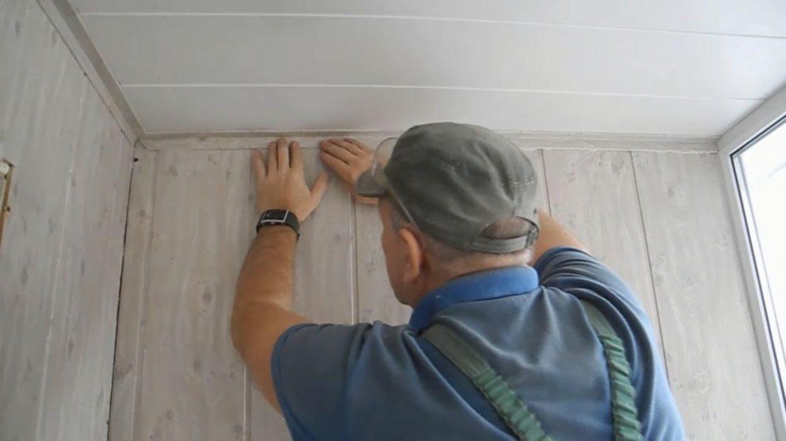 крепление пластиковых панелей к потолку