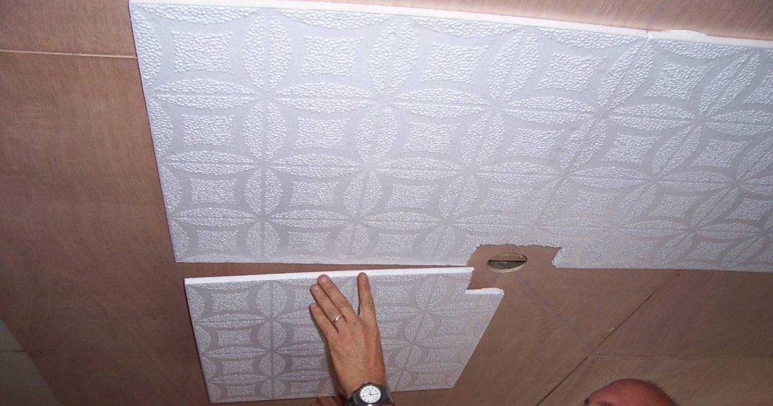 плитка потолочная из пенопласта