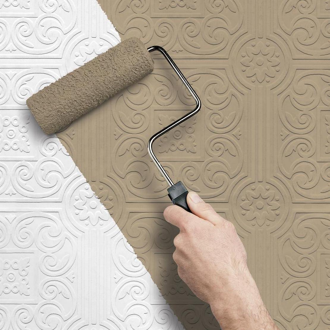покрасить потолок из пенопластовых плиток