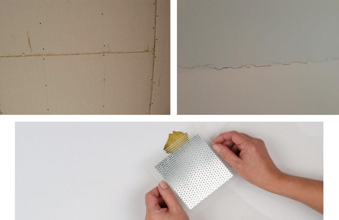 заделка дырки на потолке