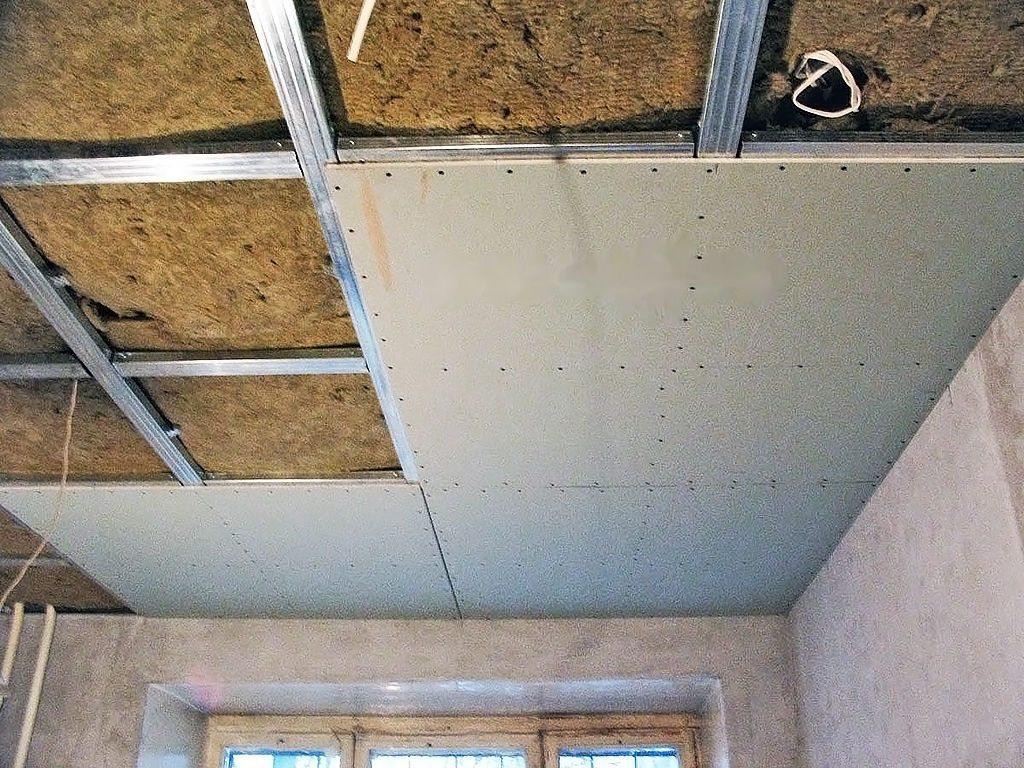бшивка потолка гипсокартоном