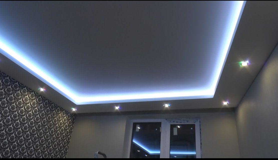 гипсокартонный короб с подсветкой