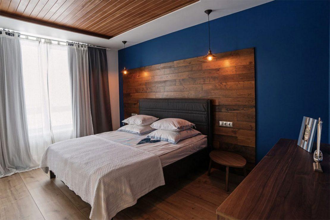 потолок из ламината в современном стиле
