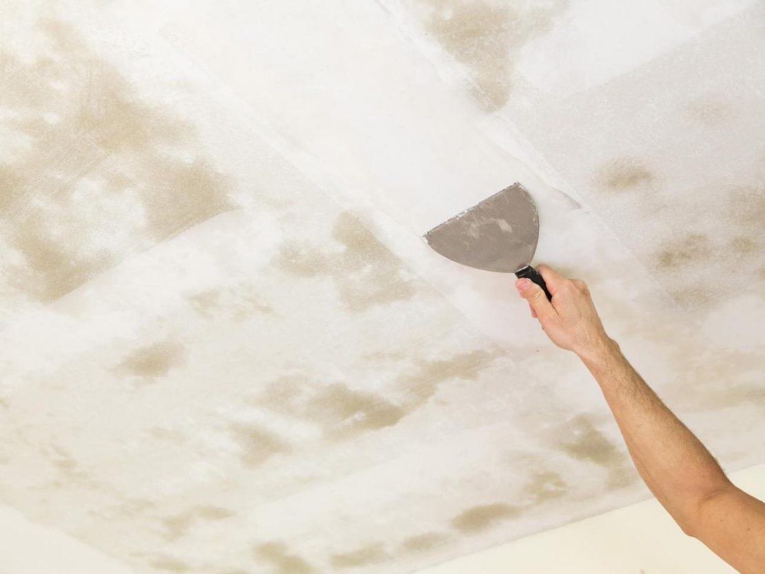 ремонт потолочных трещин